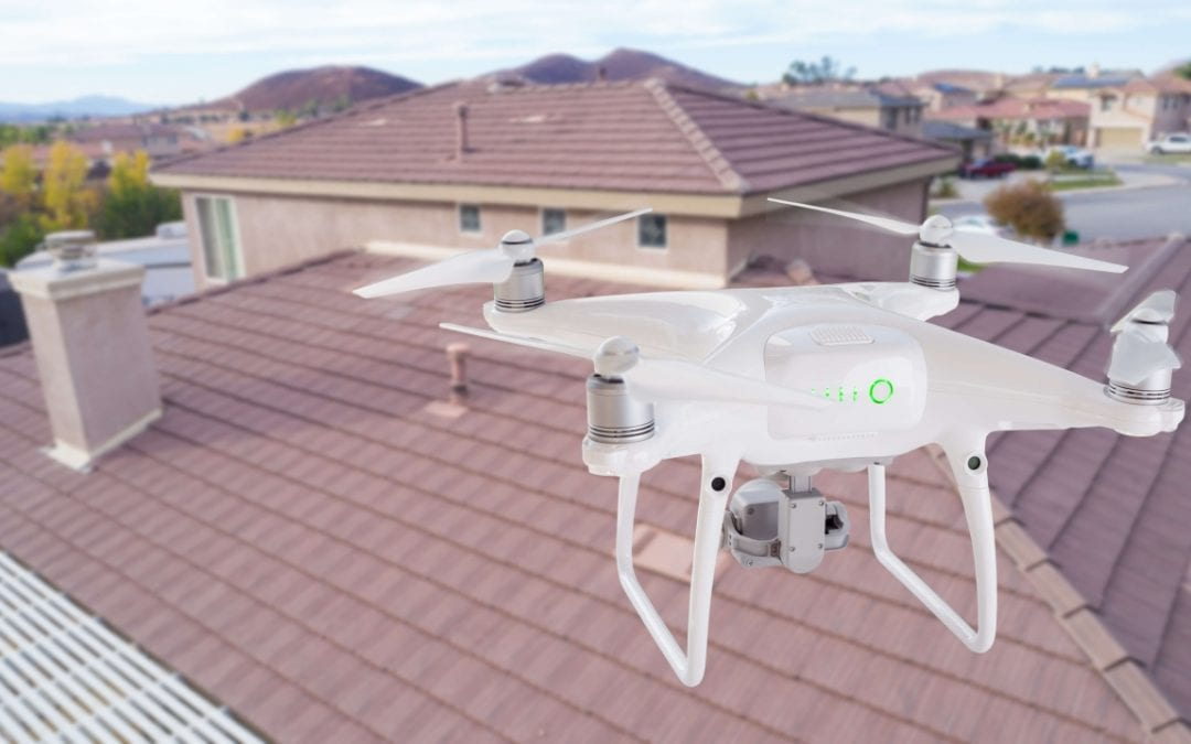 inspectors can use drones in home inspections for a better view of the property